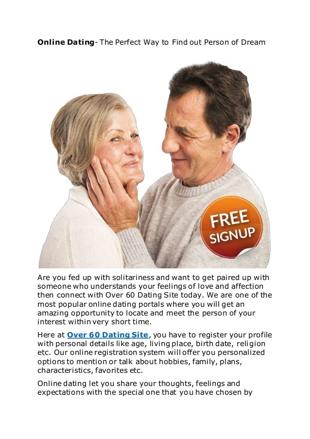 dating over 60 free