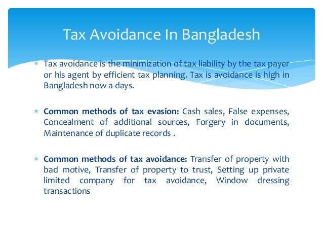Tax Structure of Bangladesh