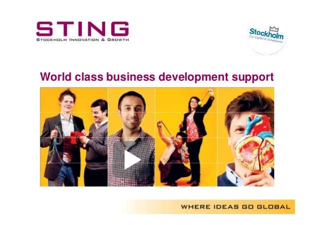 World class business development support