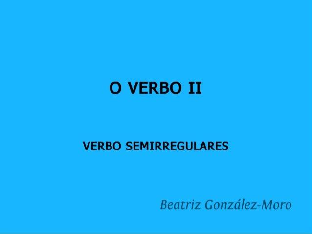 O verbo II