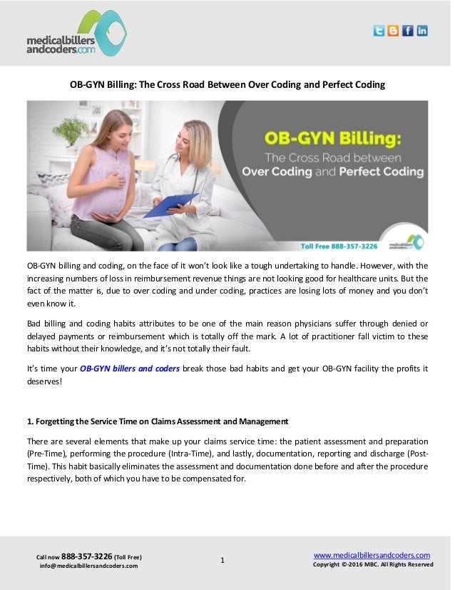 Over Coding And Under Coding Ob Gyn Billing Habits You Need To Work O