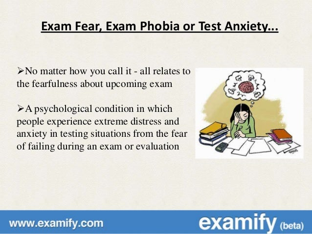 phobia on examination How can i overcome my exam phobia  if examination phobia is something that is affecting you because of lack of preparedness for the examination then the first.