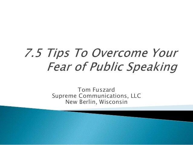Tom Fuszard Supreme Communications, LLC New Berlin, Wisconsin