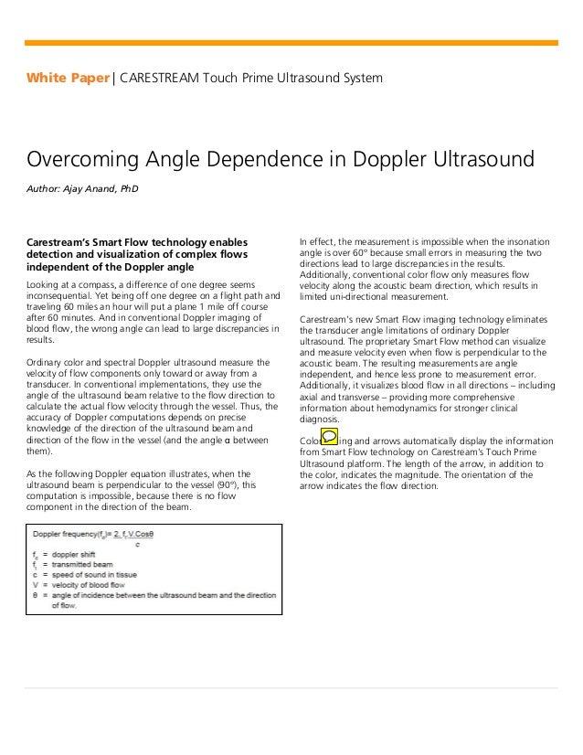 Overcoming angle-dependence-in-doppler-ultrasound