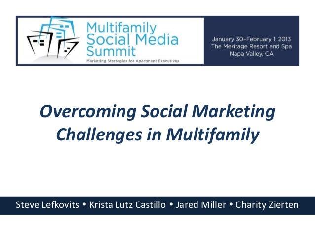 Overcoming Social Marketing      Challenges in MultifamilySteve Lefkovits  Krista Lutz Castillo  Jared Miller  Charity ...