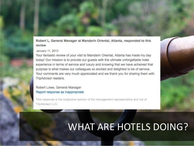 WHAT ARE HOTELS DOING?                    22