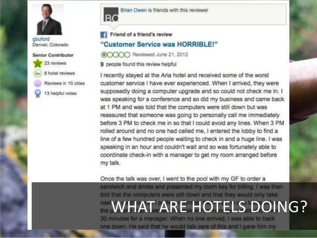 WHAT ARE HOTELS DOING?                    23