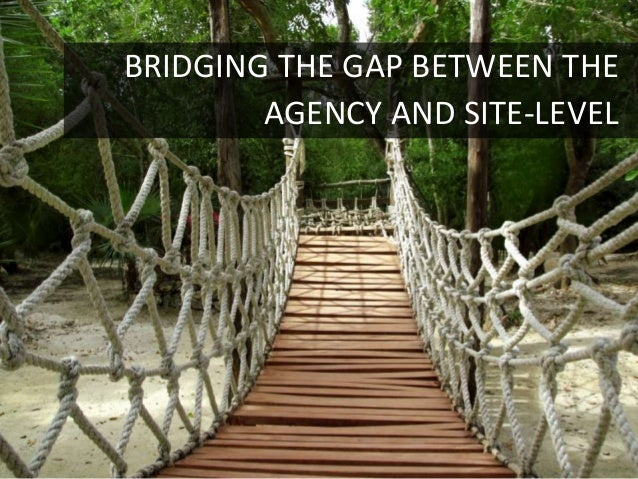 BRIDGING THE GAP BETWEEN THE        AGENCY AND SITE-LEVEL                           28