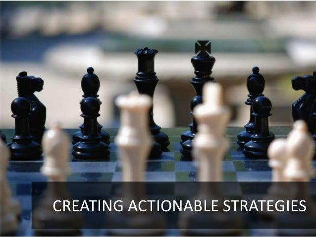 CREATING ACTIONABLE STRATEGIES                            6