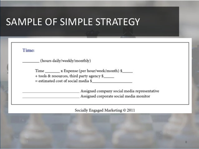 SAMPLE OF SIMPLE STRATEGY                            8