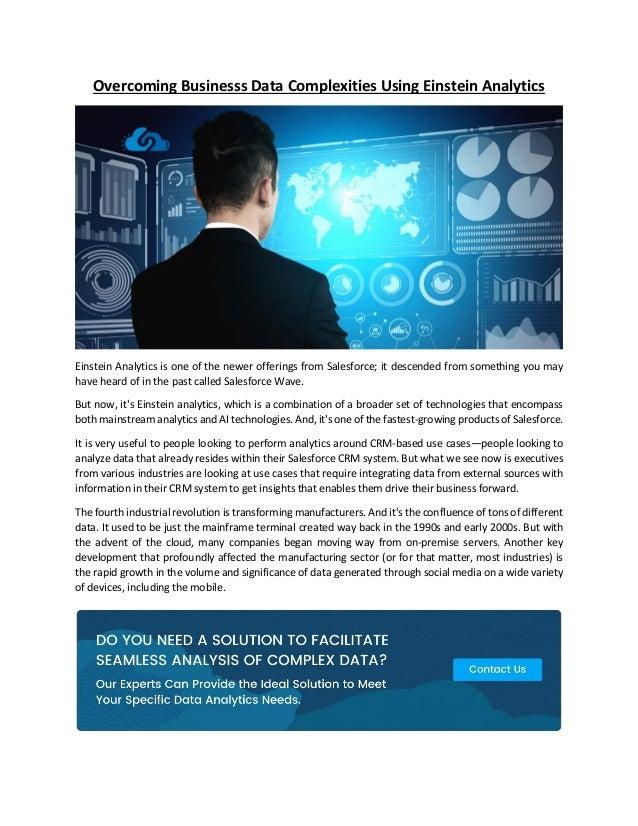 overcoming businesss data complexities using einstein analytics 1 638
