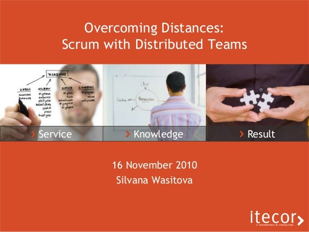 Service Knowledge Result Overcoming Distances: Scrum with Distributed Teams 16 November 2010 Silvana Wasitova