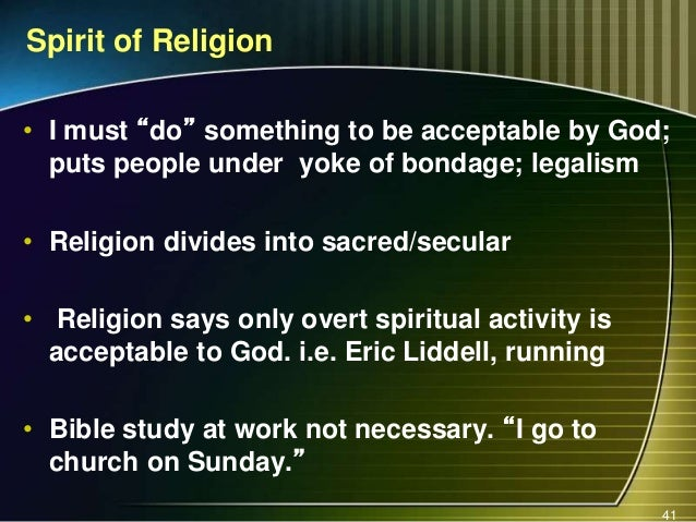religion versus relationship The word religion has become a pejorative in the pulpits of too many preachers, and it has spread to the pews, as well well-meaning evangelists and church leaders are willing to labor long and har.