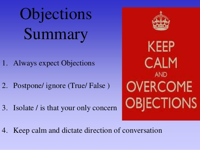 Overcoming objections by Jim Duffy