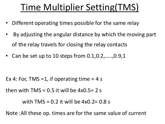 Current Relay Setting - Data SET •