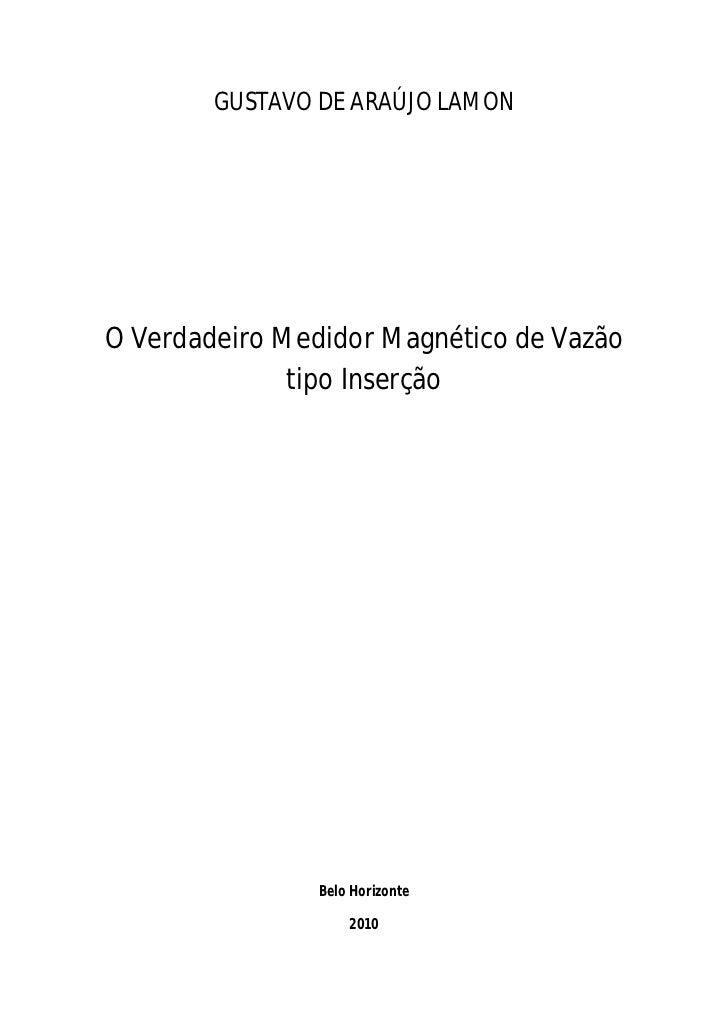 GUSTAVO DE ARAÚJO LAMONO Verdadeiro Medidor Magnético de Vazão              tipo Inserção                Belo Horizonte   ...
