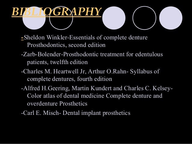 Overdenture orthodontic courses by indian dental academy 65 bibliography sheldon winkler essentials of complete denture prosthodontics fandeluxe Gallery