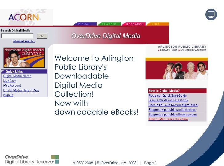 Welcome to Arlington Public Library's Downloadable  Digital Media Collection! Now with downloadable eBooks!