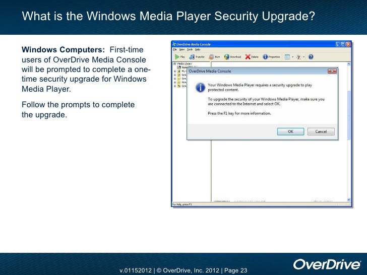Overdrive media console windows media player update download latest windows defender updates windows 7
