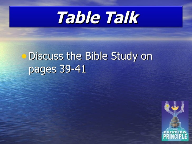 OVERFLOW IN THE BIBLE - King James Bible