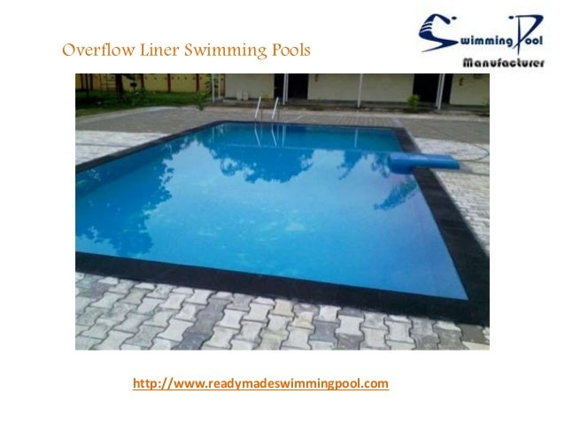 Overflow prefabricated swimming pools