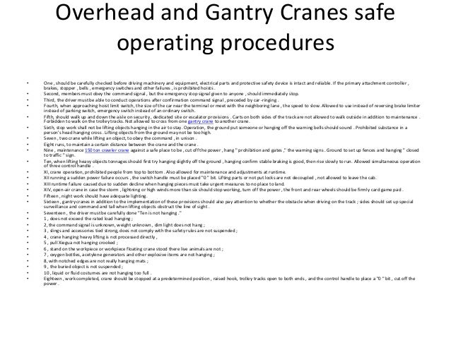 overhead crane risk assessment pdf
