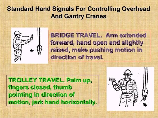 Overhead Gantry Crane Training Aberdeen : Overhead and gantry crane hand signals the best