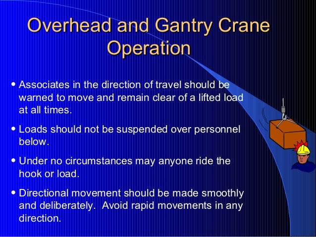 Overhead Crane Safety by FHM