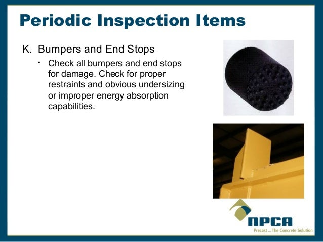 Overhead Crane Safety and Inspection Requirements by NPCA