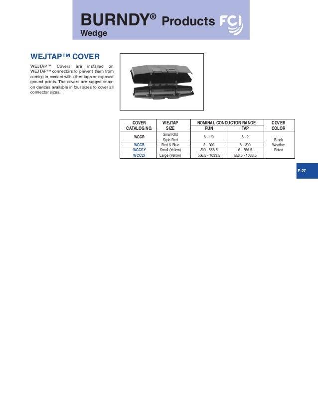 Pack of 10 0.563 Maximum Run 0.813 Maximum Diameter Burndy WSM3 Wejtap Stirrup 0.25 Maximum Tap 3//0-4//0 Nominal Cable Range