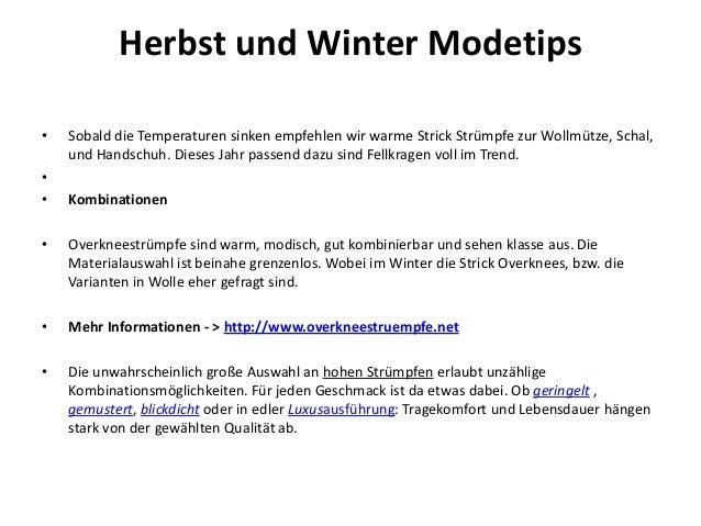 Herbst und Winter Modetips •  • •  Sobald die Temperaturen sinken empfehlen wir warme Strick Strümpfe zur Wollmütze, Schal...