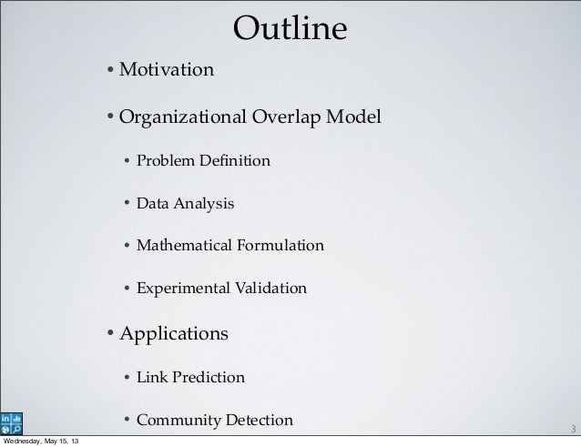 Organizational Overlap on Social Networks and its Applications Slide 3