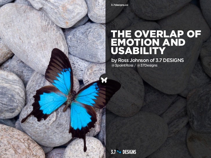 THE OVERLAP OFEMOTION ANDUSABILITYby Ross Johnson of 3.7 DESIGNS@3pointRoss / @37Designs