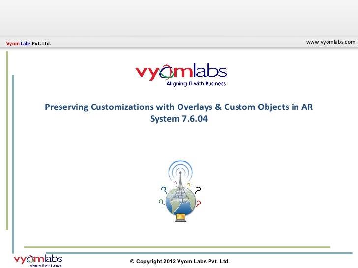 Vyom Labs Pvt. Ltd.                                                         www.vyomlabs.com                Preserving Cus...