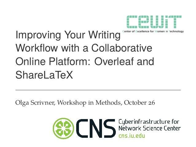 Introduction to Overleaf Workshop