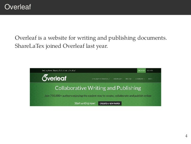 Introduction to Overleaf Workshop