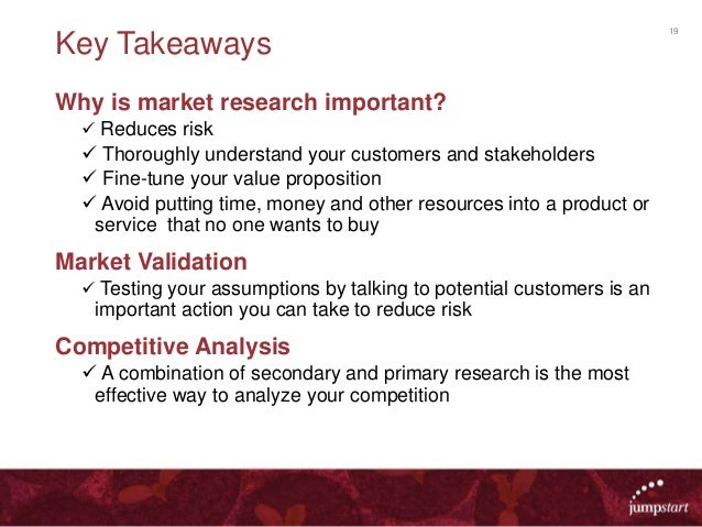 importance of market research mkt 441 Mkt 441 week 2 individual assignment market research plan phase 1  target  market, and per capita, and describe their importance to the.