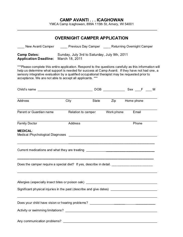 CAMP AVANTI . . . ICAGHOWAN                       YMCA Camp Icaghowan, 899A 115th St, Amery, WI 54001                     ...