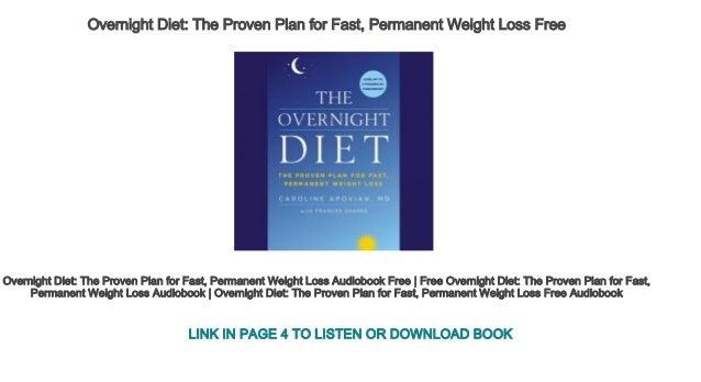 permanent weight loss diet plan