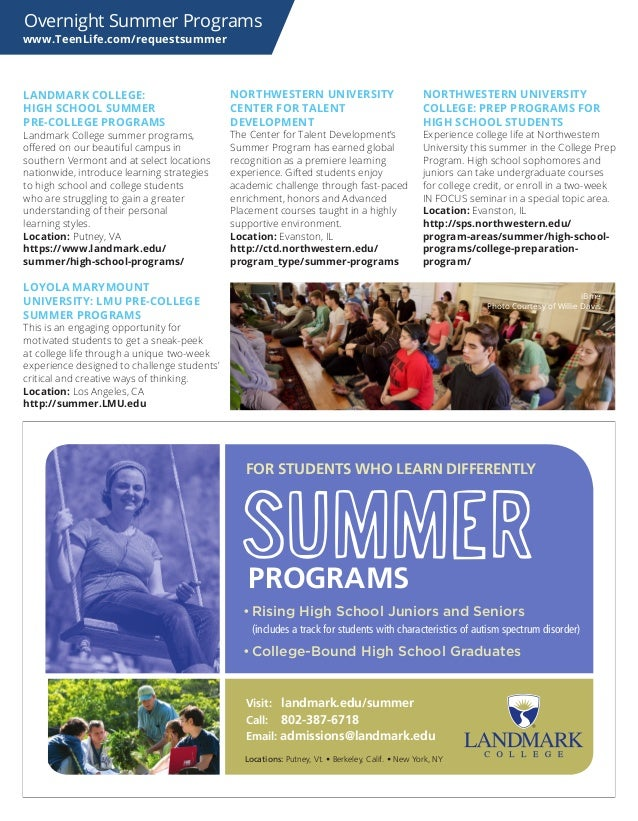 2017 Teenlife Guide To Overnight Summer Programs