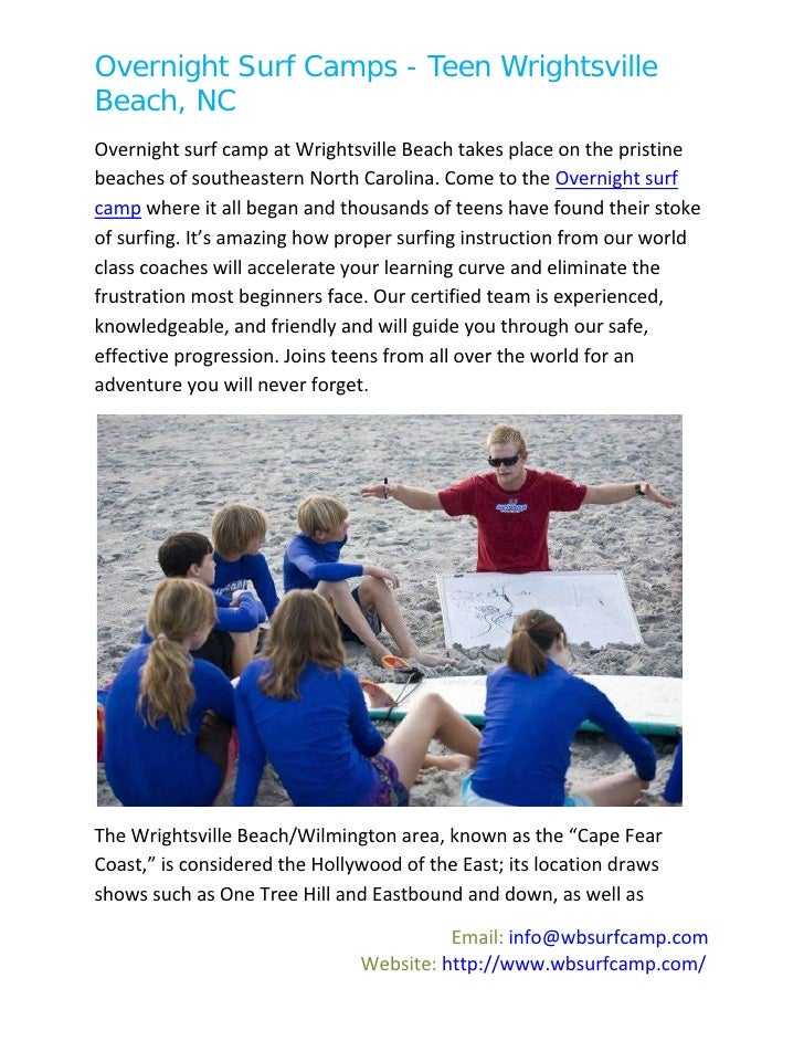 Overnight Surf Camps - Teen WrightsvilleBeach, NCOvernight surf camp at Wrightsville Beach takes place on the pristinebeac...