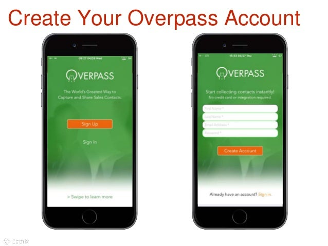 Overpass lead capture and business card scanning create your overpass account 4 colourmoves Gallery