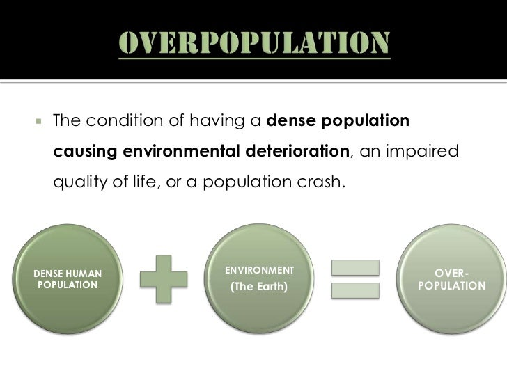 specific relationship of overpopulation to resources and environment