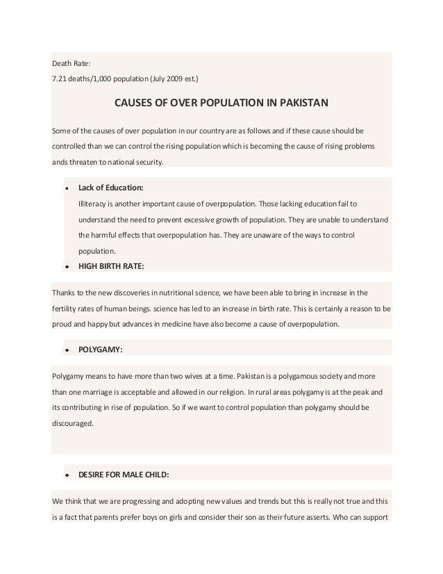 Essay overpopulation
