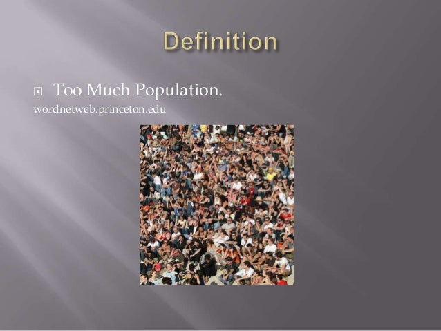 World overpopulation powerpoint