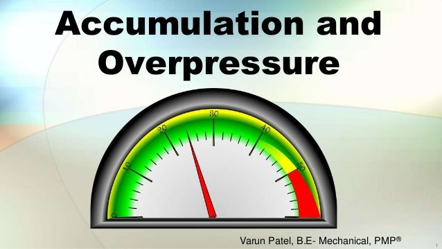 Accumulation and Overpressure Varun Patel, B.E- Mechanical, PMP® 1