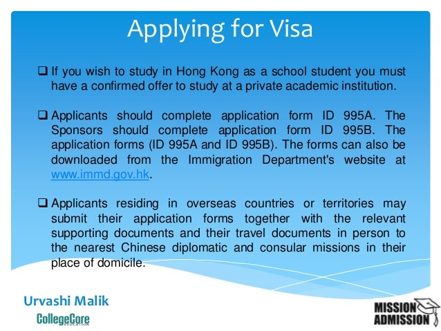 who should submit supplimentery application form for chinese visa