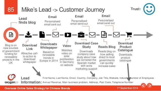 85  Mike's Lead -> Customer Journey  Lead  finds blog  Download  Link  Attractive call-to-  action to  download  whitepape...