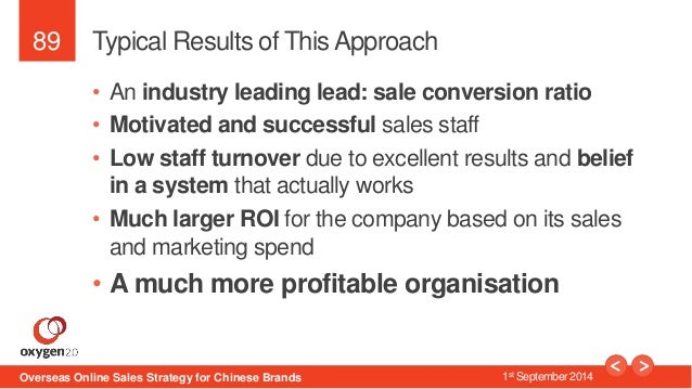 89  Typical Results of This Approach  • An industry leading lead: sale conversion ratio  • Motivated and successful sales ...