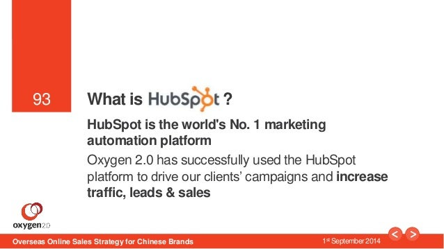 93  93 What is ?  HubSpot is the world's No. 1 marketing  automation platform  Oxygen 2.0 has successfully used the HubSpo...